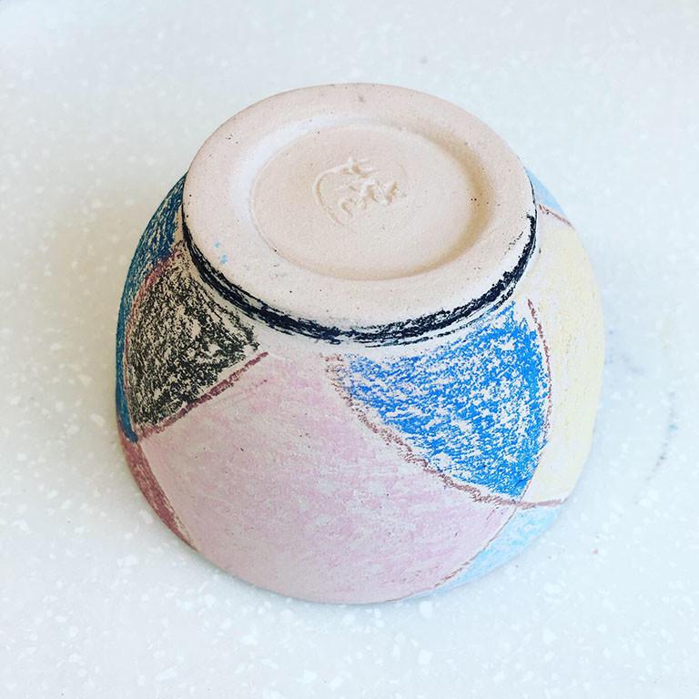 「陶芸用パステル」で下絵付けしたぐい呑